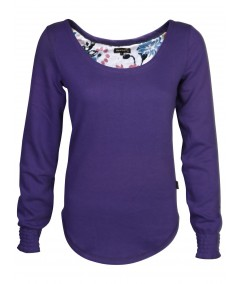 Blue Printed Fleece Sweat Top