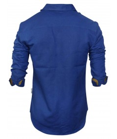Slim Fit - Ink Blue Linen Shirt