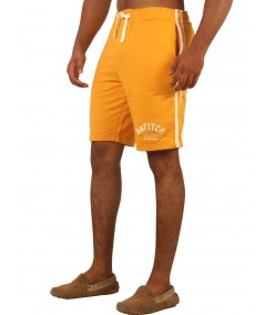 Mustard Piping Fleece Shorts