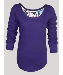 Violet Fleece Sweat Top