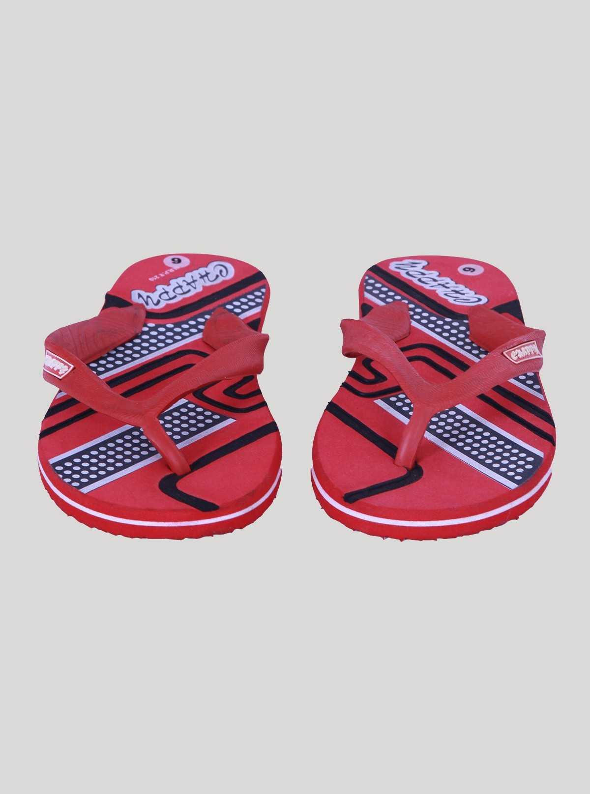 Red Graphic Flip Flop