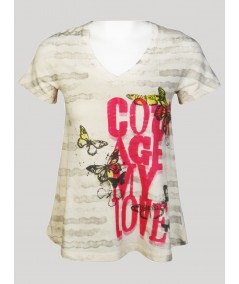 Womens Age My Love Printed Top