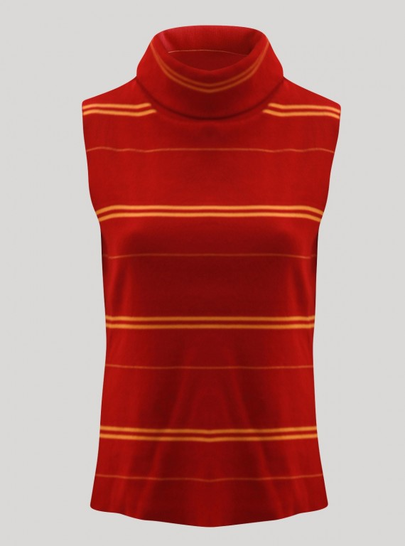 Red Roll On Neck TShirt