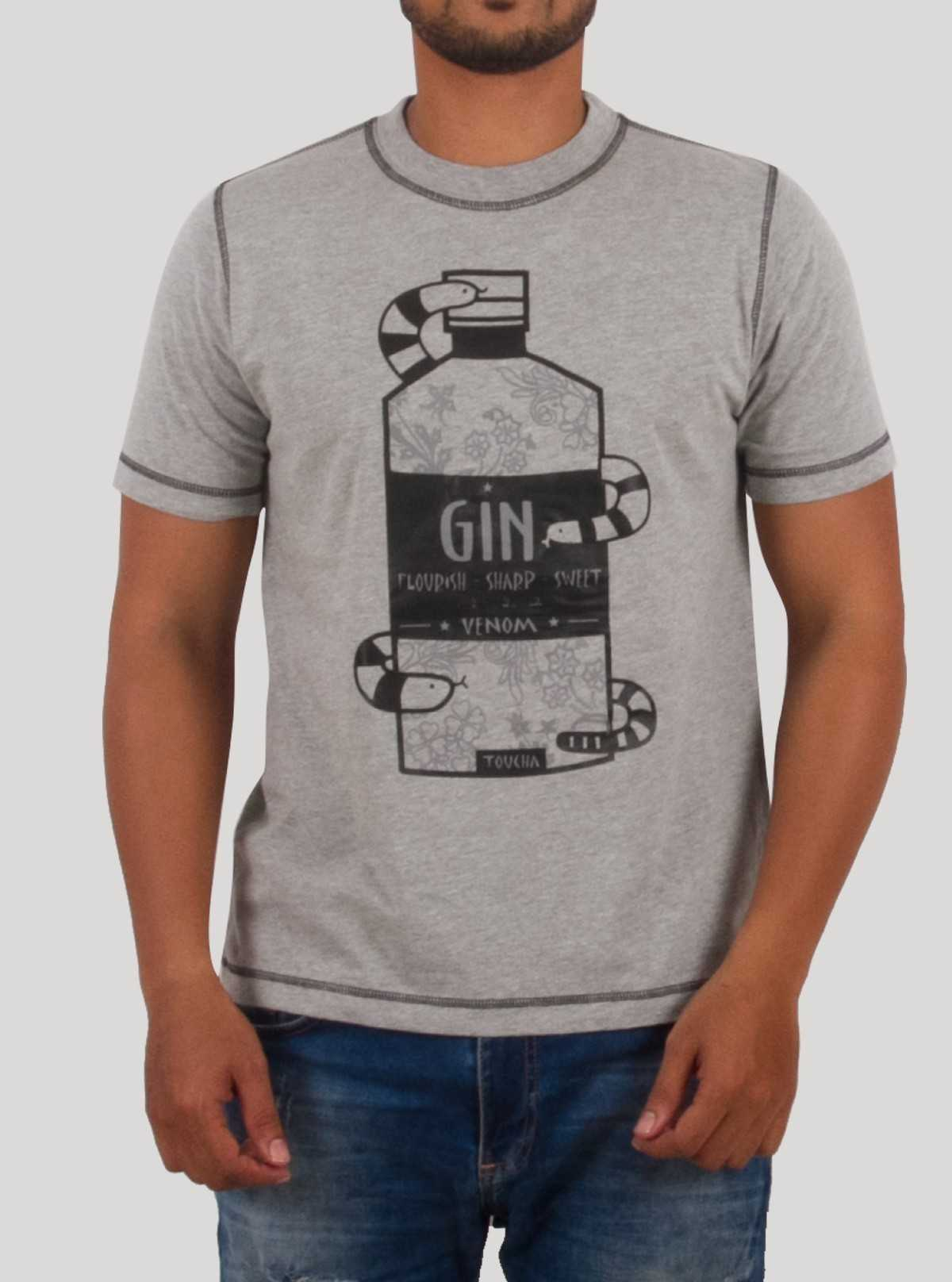Black GIN Print T-Shirt
