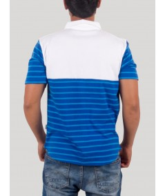 Royal Stripe Polo TShirt