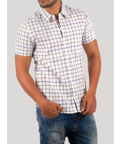 Checked Linen Blend Shirt