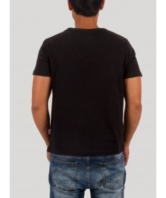 Black Wide V Neck TShirt