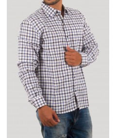 White Multi Check Casual Shirt