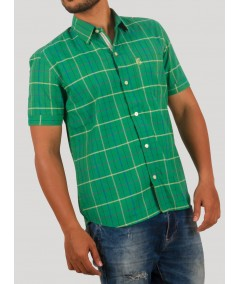 Checks green casual Shirt