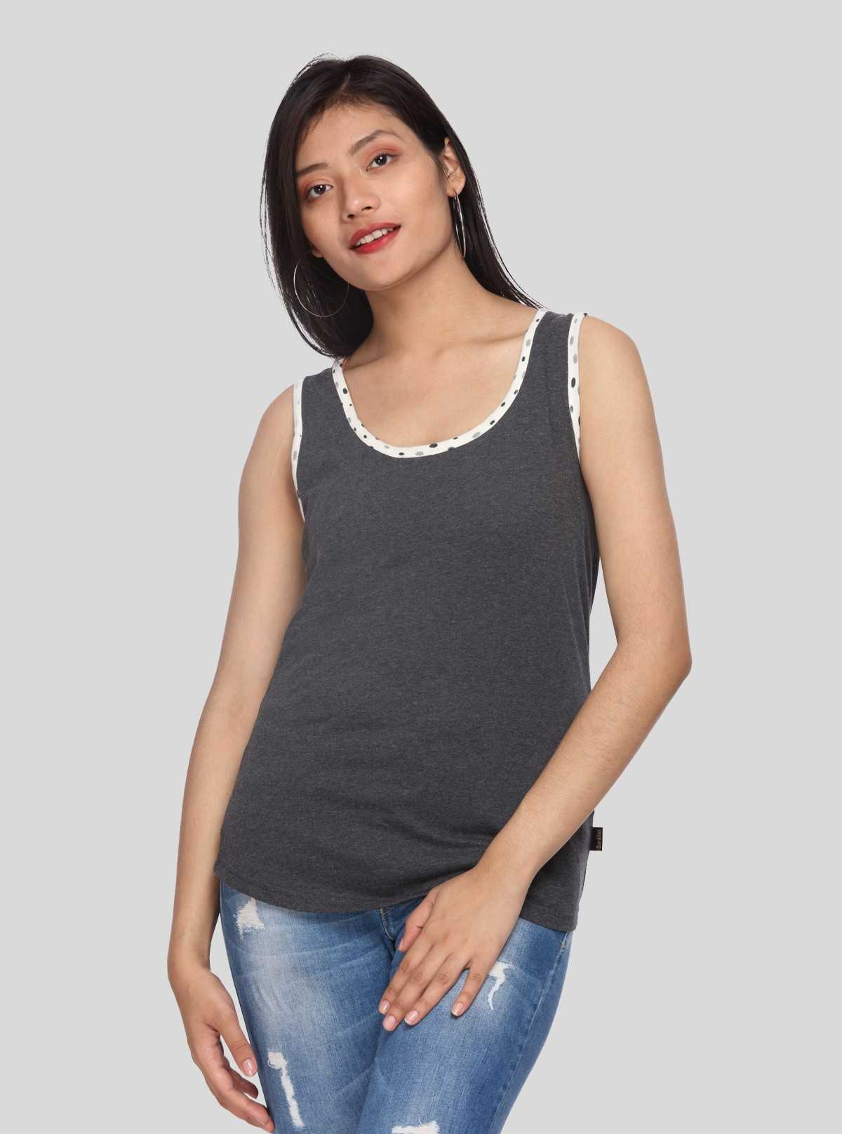 Spotted Melange Tank Top