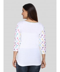 Colorful Zebra Womens Top