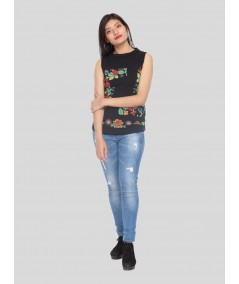 Fruitta Print High Neck Top