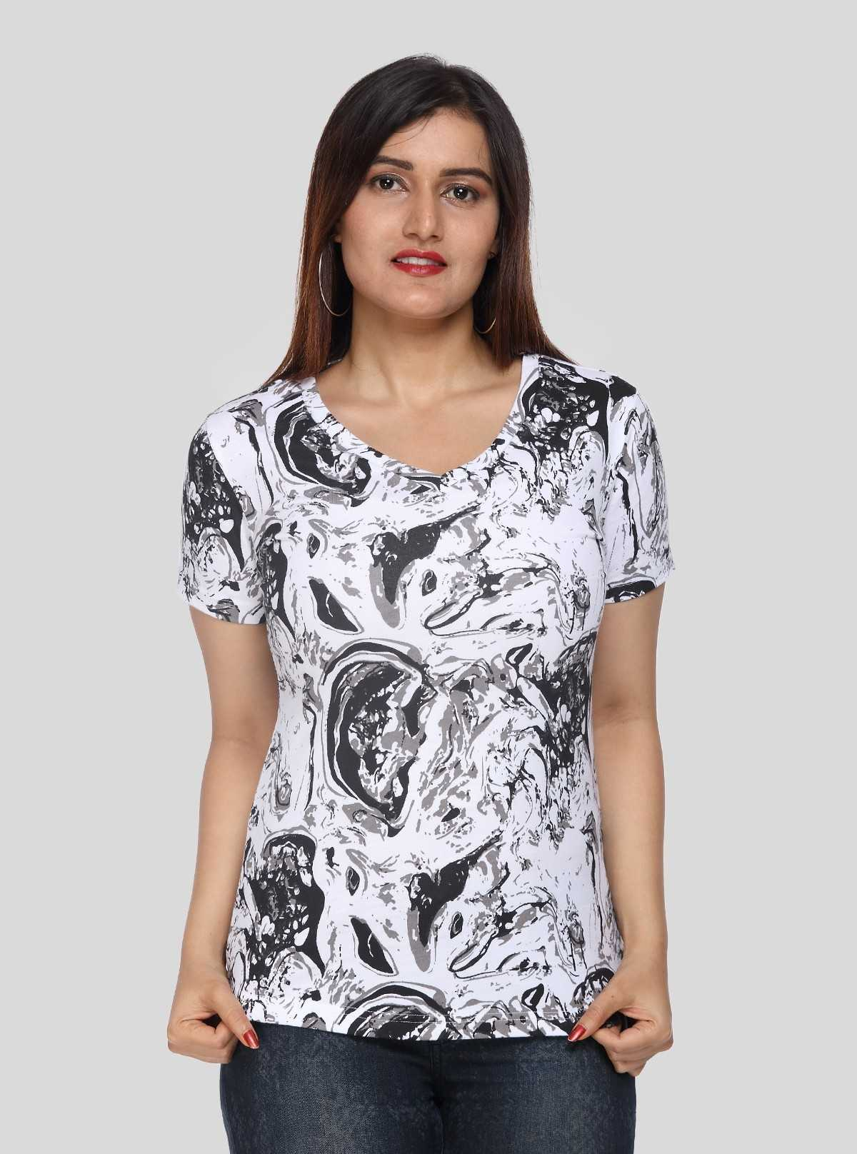 Distress Print Women TShirt