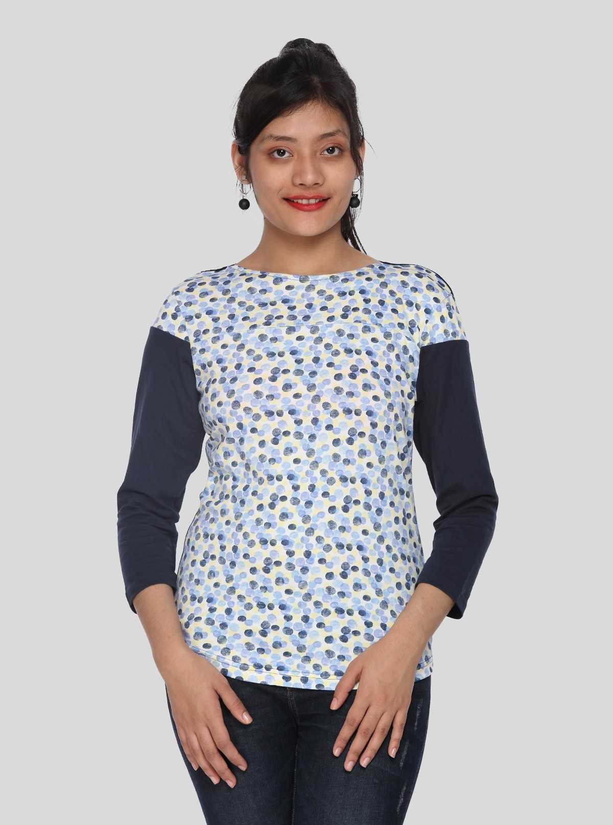 Graphic Printed Womens Top