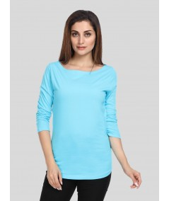Turqoise Solid Womens Top