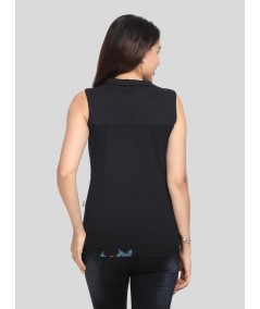Colorful Leaves High Neck Top