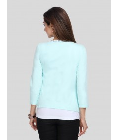 Light Green Fleece Set Top