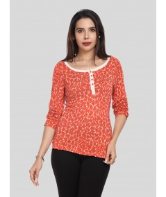 Orange Spread Women's Top