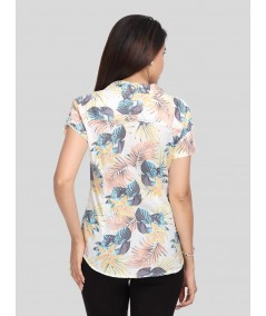 Spring Flower Print Women Shirt