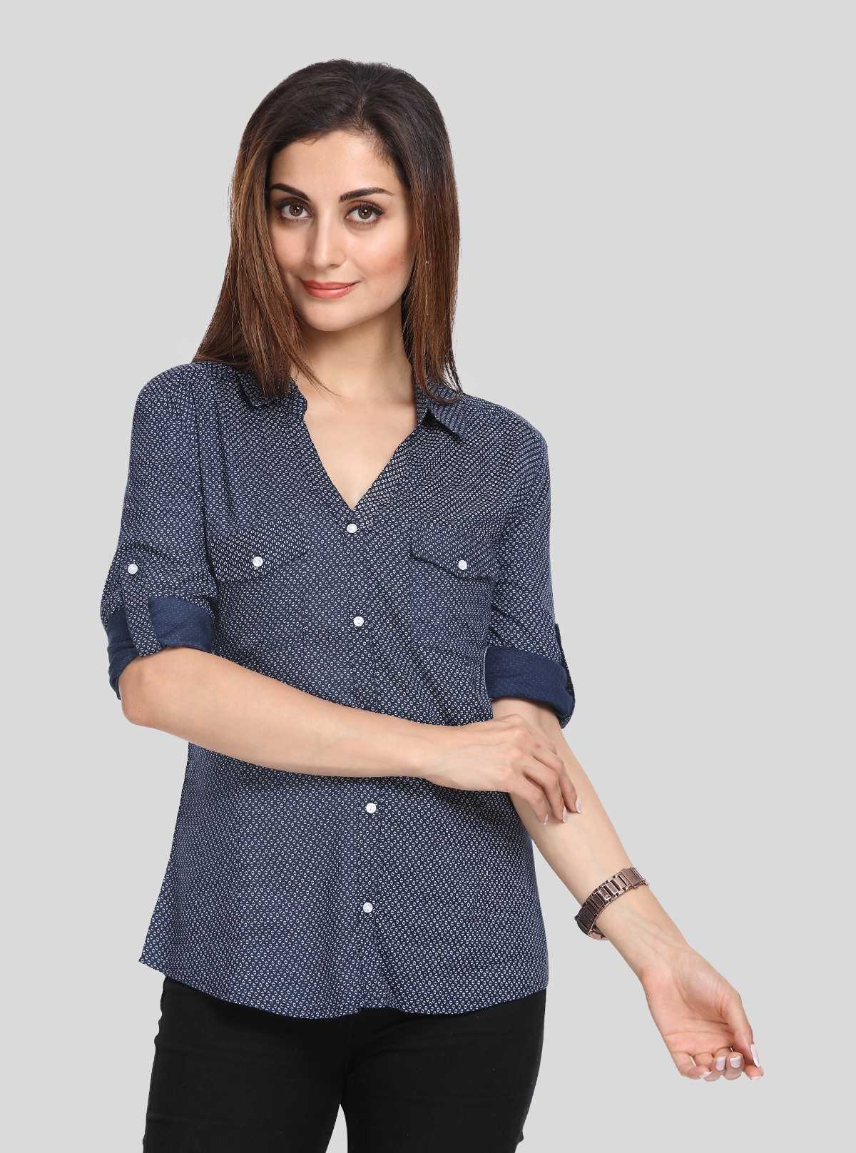 Blue Graphica Women Shirt