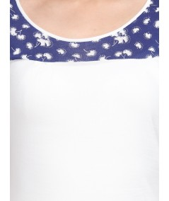 Split Print Cut & Sew Womens Top