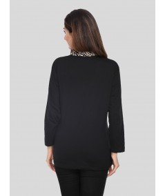 Black Spreaded Womens Top