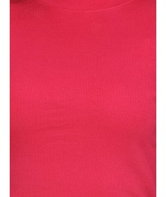 Red Roll On Neck Long Top