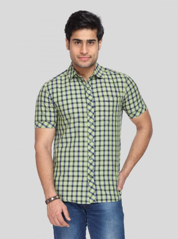 Green Soft Check Shirt