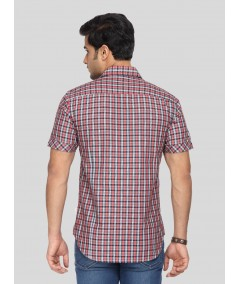 Red Fine Checkered Shirt
