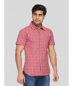 Checkered Fine Red Shirt