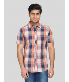 Broad Check Slim Fit Shirt