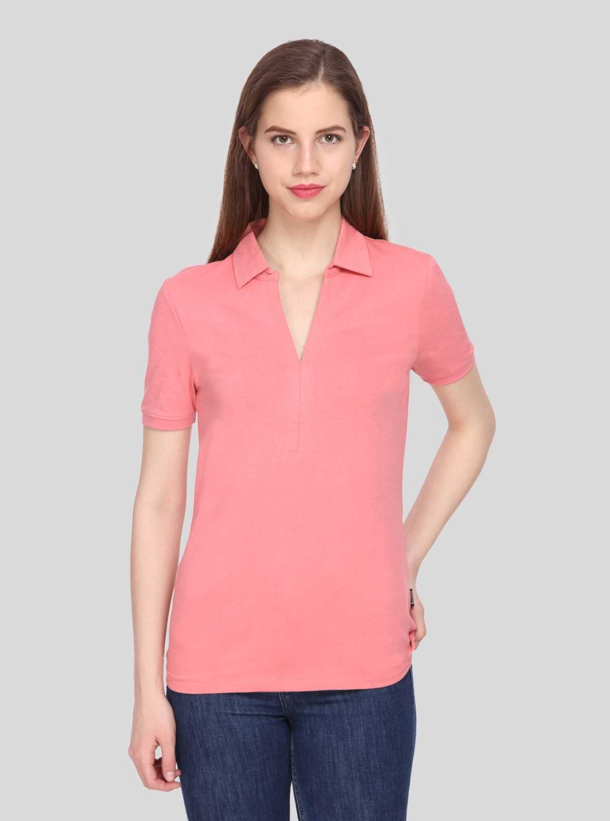 Polo Collar TShirt - Pink