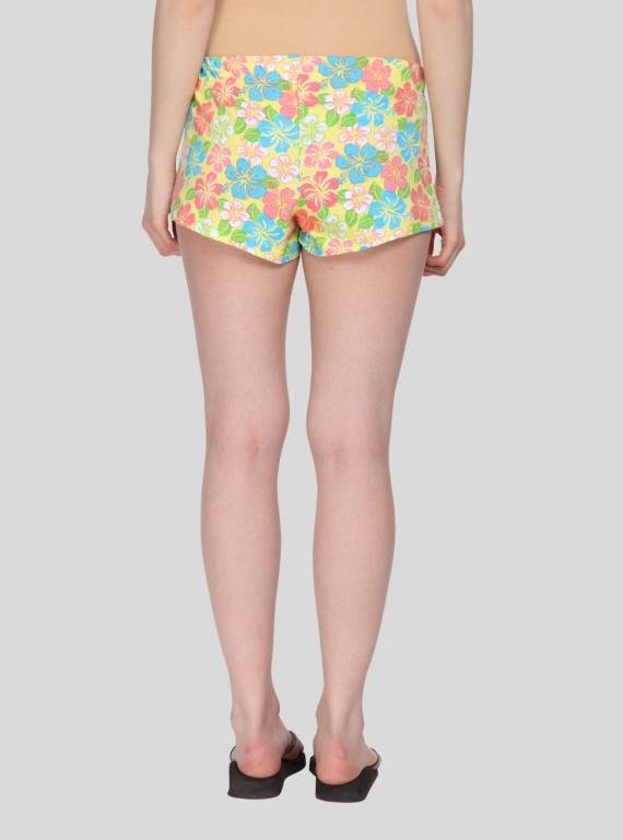 Salmon Floral Womens Shorts