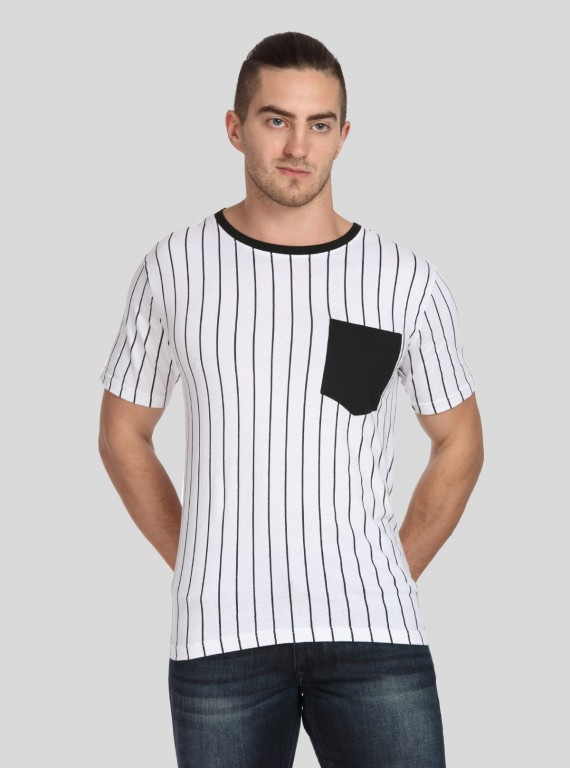Vertical Lined Mens TShirt
