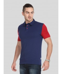 Red Sleeve Contrast Polo