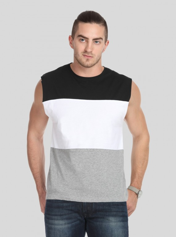Black Cut and Sew Tank Top