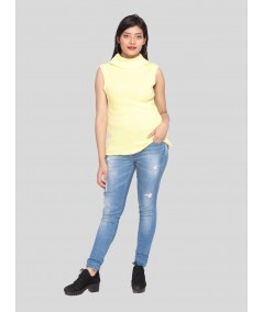 Aurora Flat Knit High Neck Top