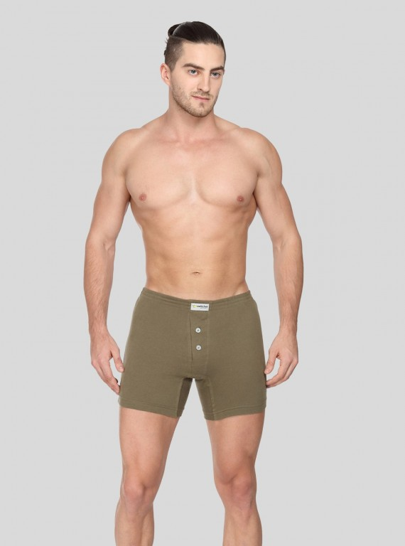 Kakhi Buttoned Boxer Brief