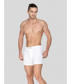 White Buttoned Boxer Brief