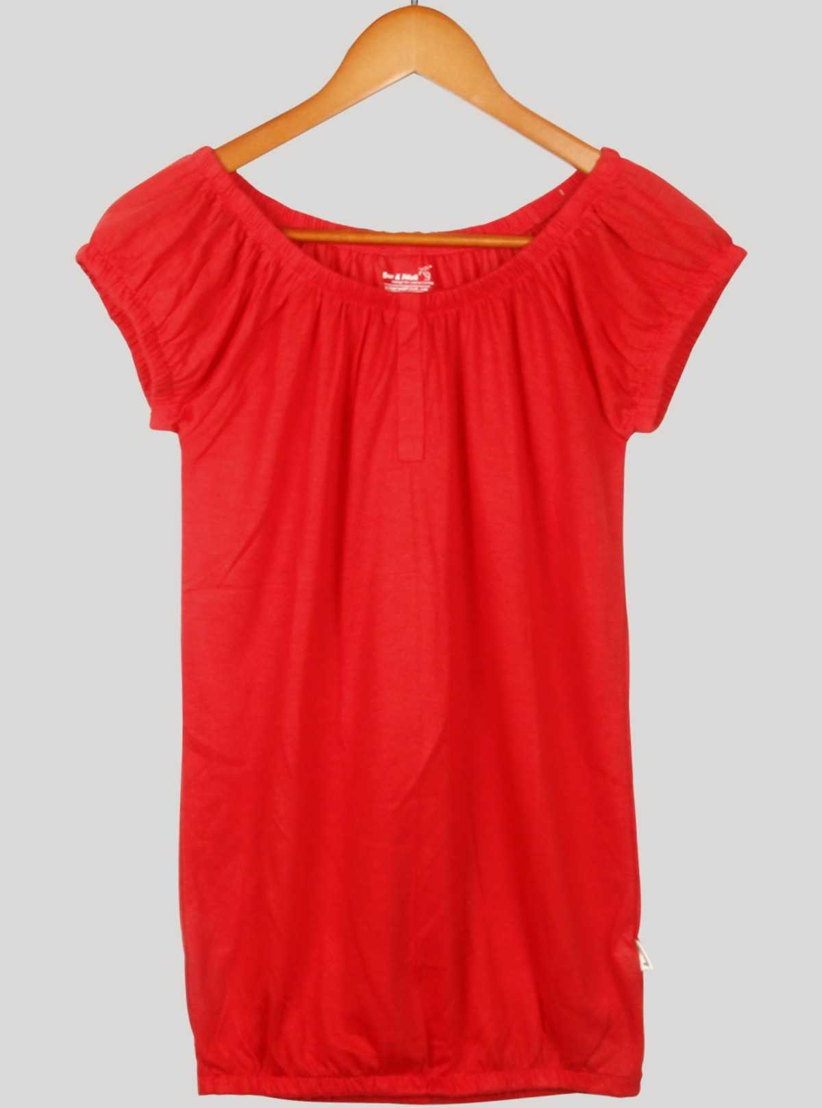Red Viscose Womens Top
