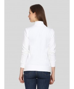 White Zipper Sweatshirt