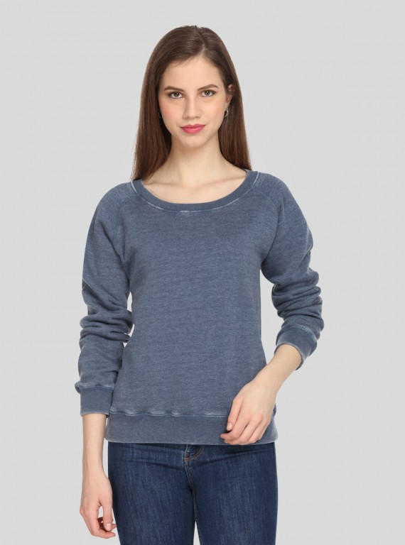 Blue Garment Dyed Sweatshirt