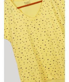 Yellow AOP Printed TShirt