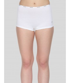 White Solid Hipster Brief