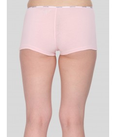 Pink Solid Hipster Brief
