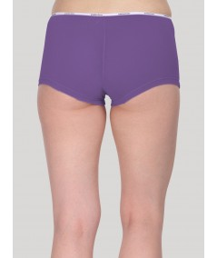 Purple Solid Hipster Brief
