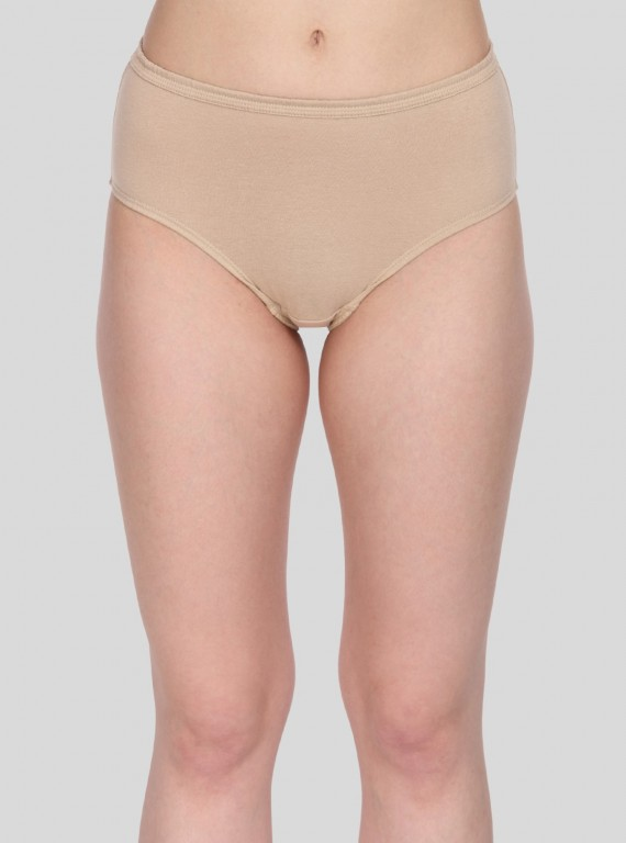 Brown Solid womens brief