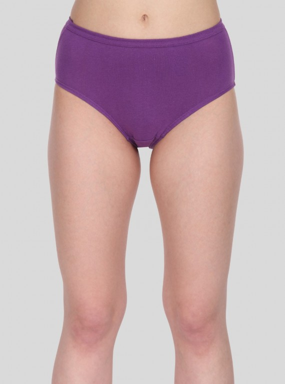 Purple Solid womens brief