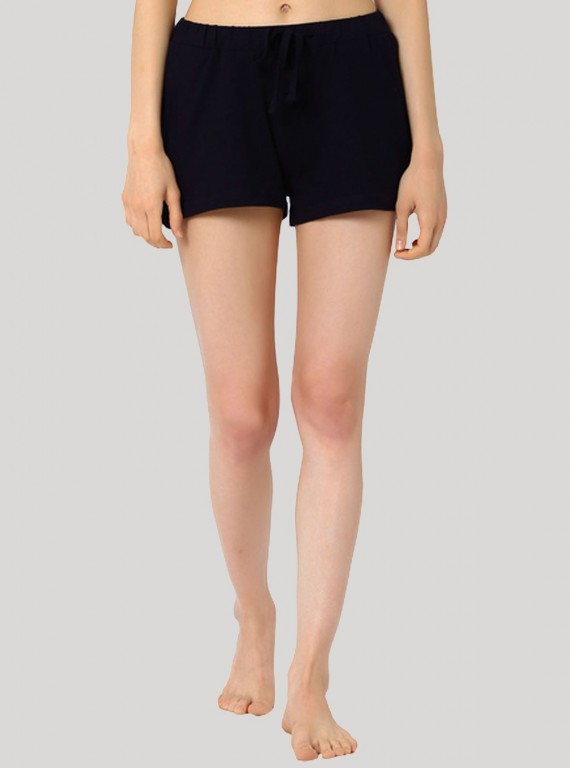 Navy Womens Shorts Boer and Fitch - 1