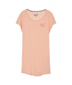 Coral Cap Sleeve Sleepwear Boer and Fitch - 3